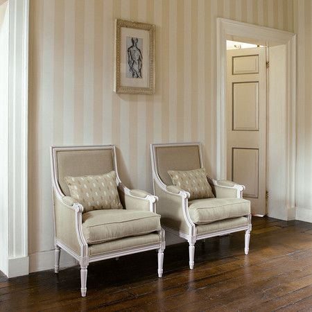 pale stripe wallpaper (Zoffany - Linen Stripe Wallpaper - ZPAW06003 Linen)