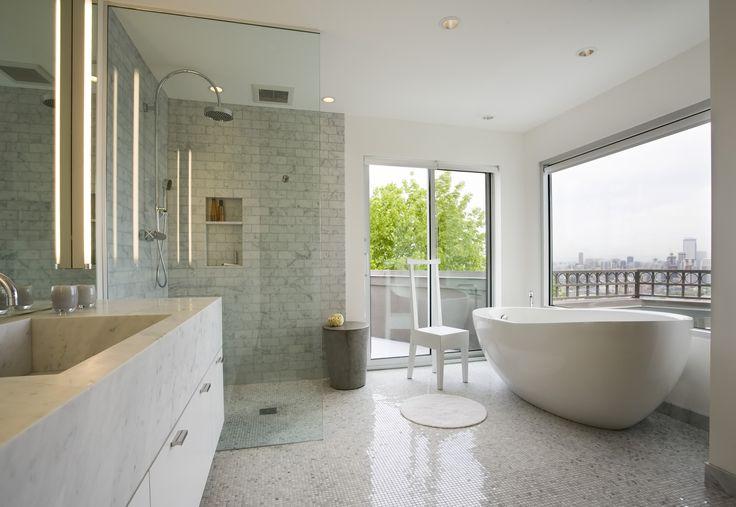 Second Avenue residence master bath, a modern design by Stuart Silk Architects, www.stuartsilk.com. #modernbath