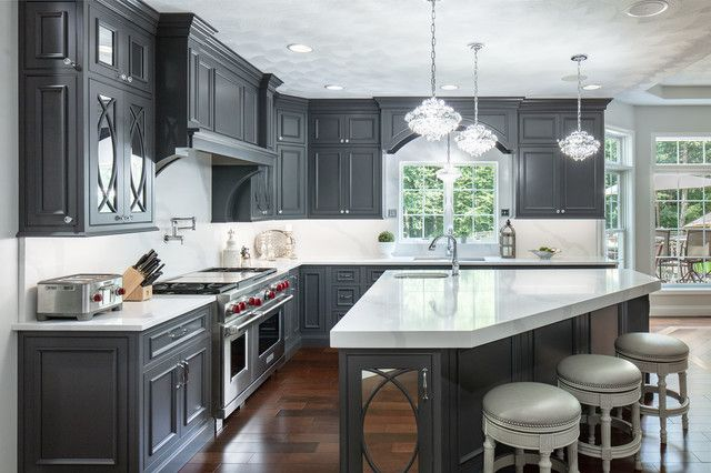 Pin by Sonia Dayal on Kitchen | Grey painted cabinets ...