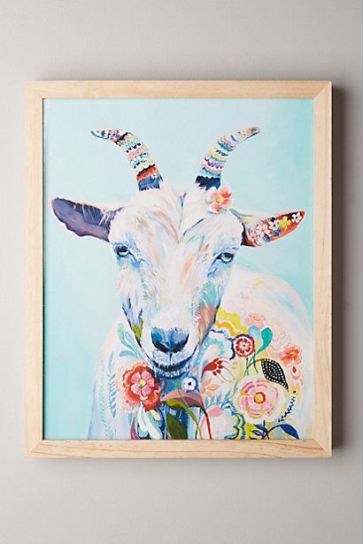 Goat art. @slsoper85 do you think this would be weird to hang in our house? I really like it.