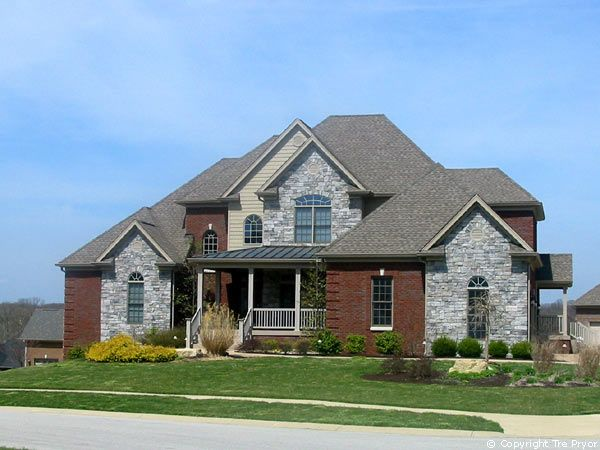 Stone And Brick Homes For Modern Pedestrian Look Stone And Brick - Exterior ideas for brick homes