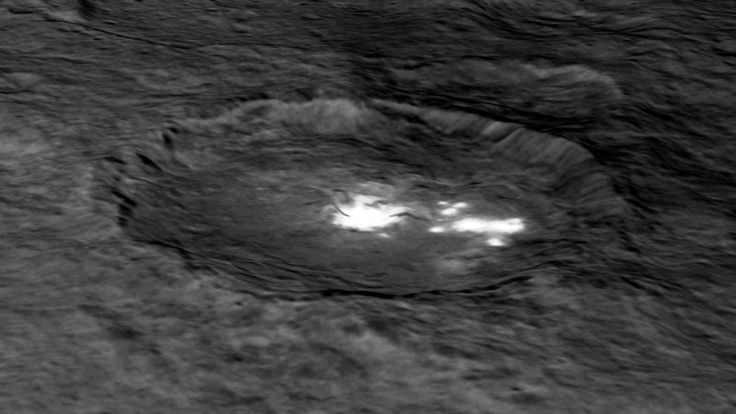 A recent study shows that landslides are common on the dwarf planet Ceres and reinforces the idea that Ceres has a lot of water ice.