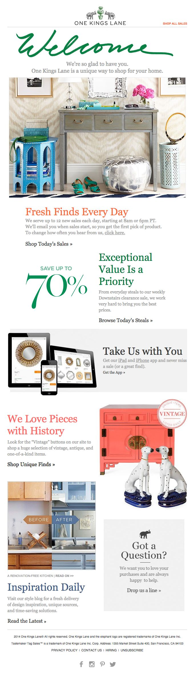 118 best Welcome emails images on Pinterest | Email design, Email ...