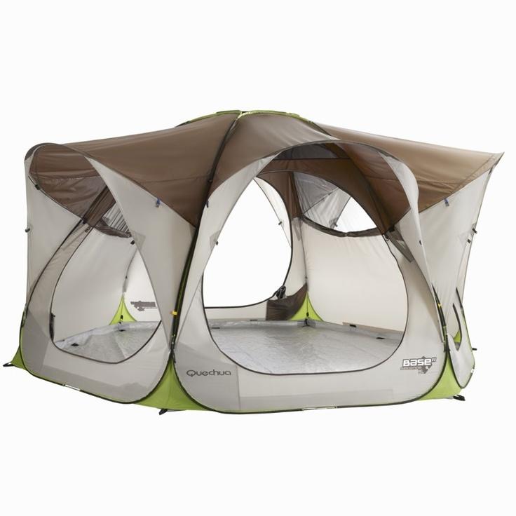 All tents quechua base seconds xl living area quechua for Living room quechua