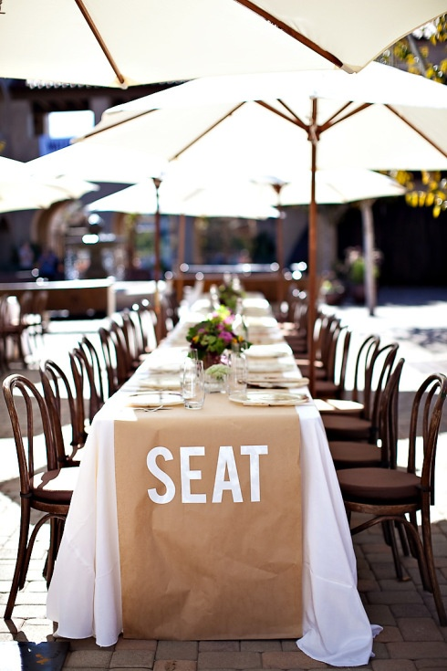 kraft paper runner - pick your seat