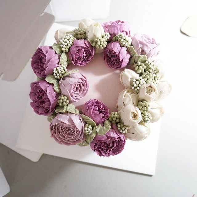1000+ Ideas About Flower Cakes On Pinterest