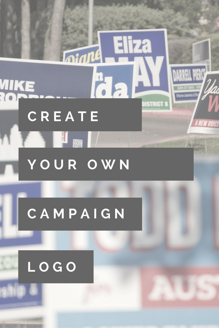 A campaign logo is going to be everywhere, on signs, shirts, buttons, brochures, door hangers...everywhere. Learn how to make your own.