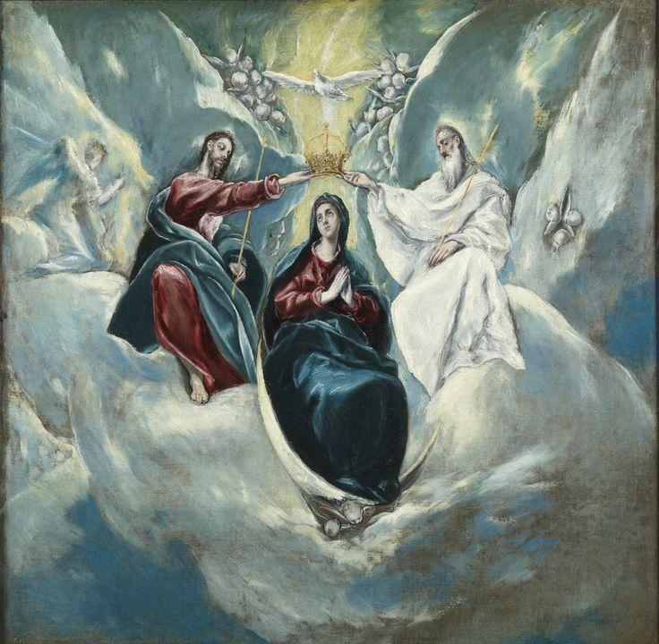 """""""La Coronación de la Virgen"""", El Greco (y taller), ca. 1593                                                                                                                                                      Más"""