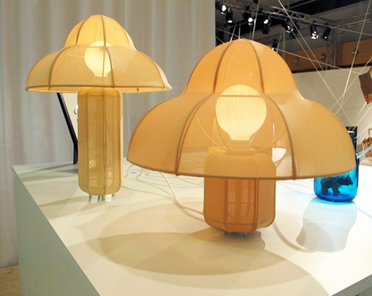 Love these mushroom-like lamps by Kristine Five Melvaer via Sight Unseen. #stockholm #style