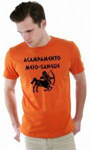 Camiseta Ilustrada: Camiseta Acampamento Meio Sangue