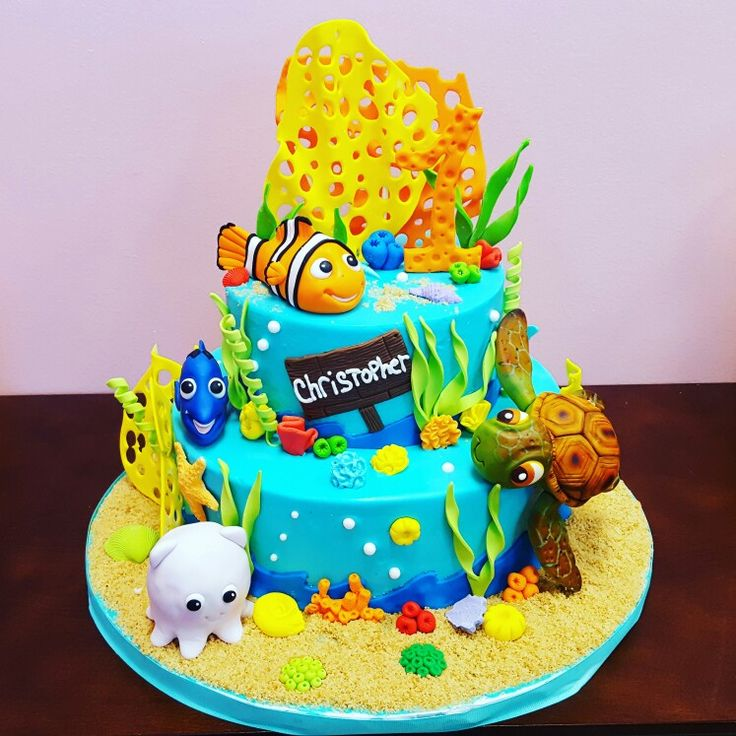 Best Nemo Party Images On Pinterest Finding Dory Finding - Nemo fish birthday cake