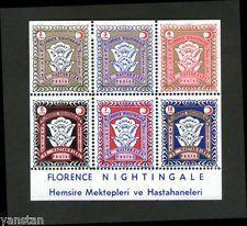Turkey 1960 Red Crescent S/S Florance Nightingale Nurse schools & hospitals **