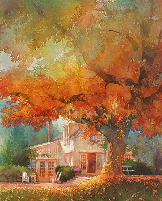 *Otoño* Autumn. Robert Steele watercolor