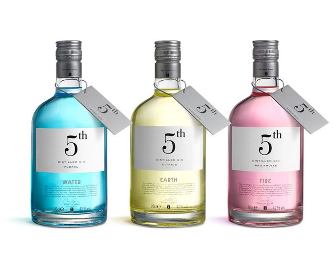 Letting Product Speak For Itself >> 5th Gin: Designed by Puigdemont Roca | Country: Spain | Design Thinking | Pinterest | Typography ...