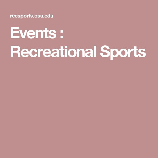 Events : Recreational Sports