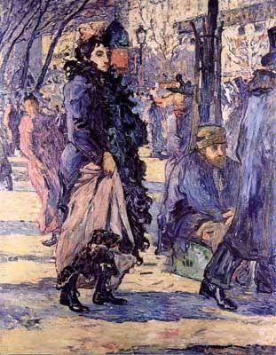 Ciudad de la pintura - VALTAT, Louis French Fauvist (1869-1952)_Sur le boulevard 1893.jpg