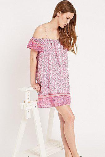 Little White Lies Off-Shoulder Dress in Pink #dress #women #covetme #littlewhitelies
