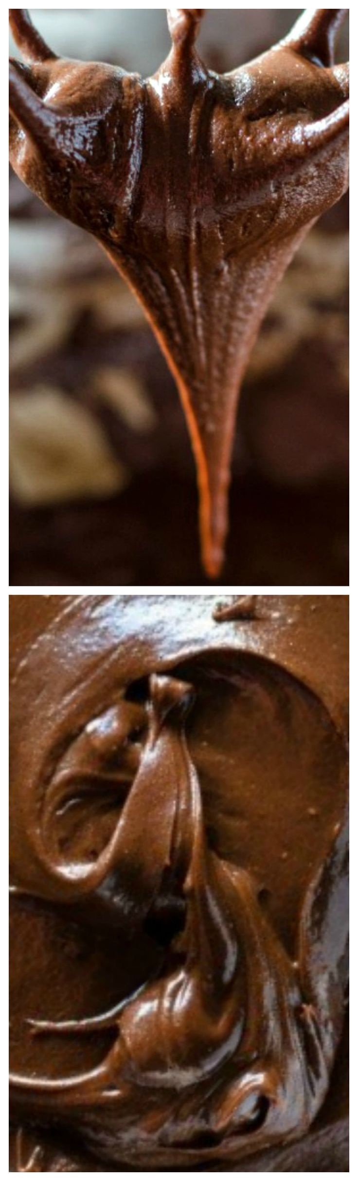Dark Chocolate Fudge Frosting ~ So rich, it will make the best cake ever... A fast and easy six ingredient recipe for the best chocolate icing.