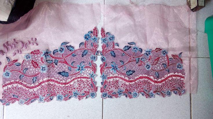 Embroidery Manual/handmade.. Kerancangan motif Batik