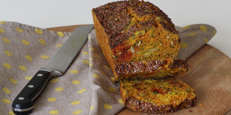 Anti-inflammatory #Turmeric, Goats Curd + Onion Seeded #Breakfast Loaf - I Quit Sugar. #sugarfree #dairyfree