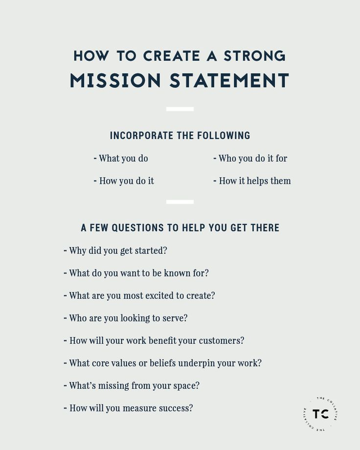 Mission statement for yourself