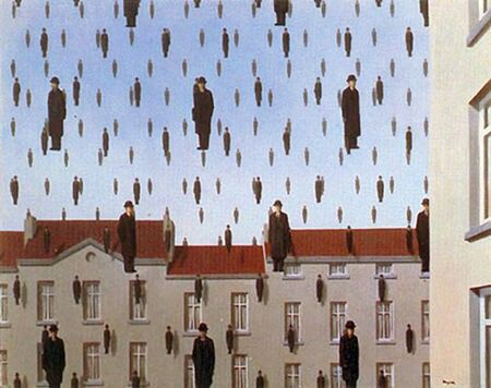 "Magritte: ""Golconda"", 1953."