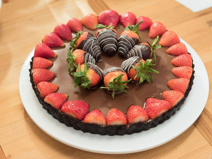 Chocolate-Covered Strawberry Tart recipe from Katie Lee via Food Network