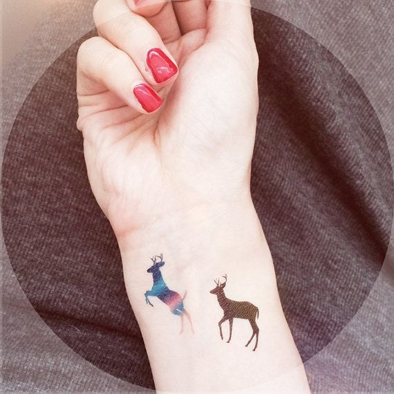 4pcs Roe Deer temporary  tattoo - InknArt Temporary Tattoo - wrist quote tattoo body sticker fake tattoo wedding tattoo