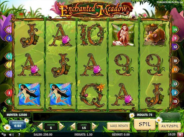 Spil Enchanted Meadow spilleautomat med free spins og bonus