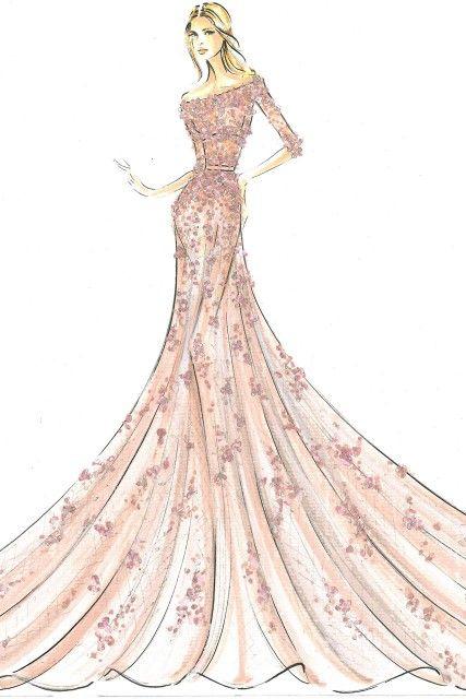 a drawing of a stunning princess dress princess