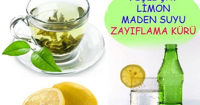 Yeşil Çay Limon Maden Suyu Zayıflama Kürü ile 5 Kilo Verin | Sağlıklı Zayıfla Mutlu Kal