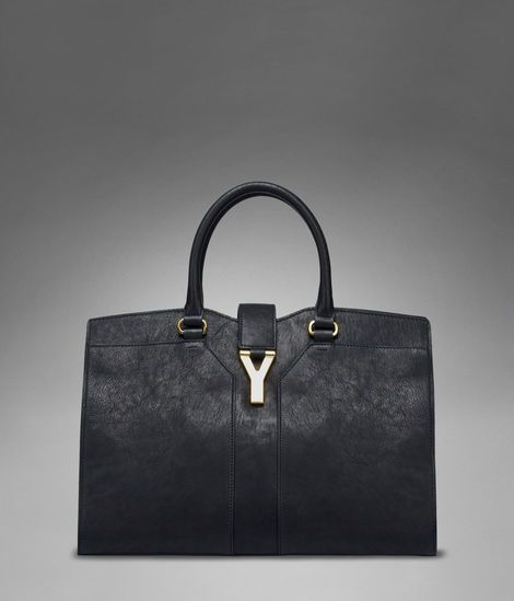 Check out Medium YSL Cabas Chyc in Black Leather at http://www.ysl ...
