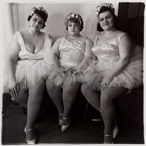 Three Circus Ballerinas, New Jersey, 1964