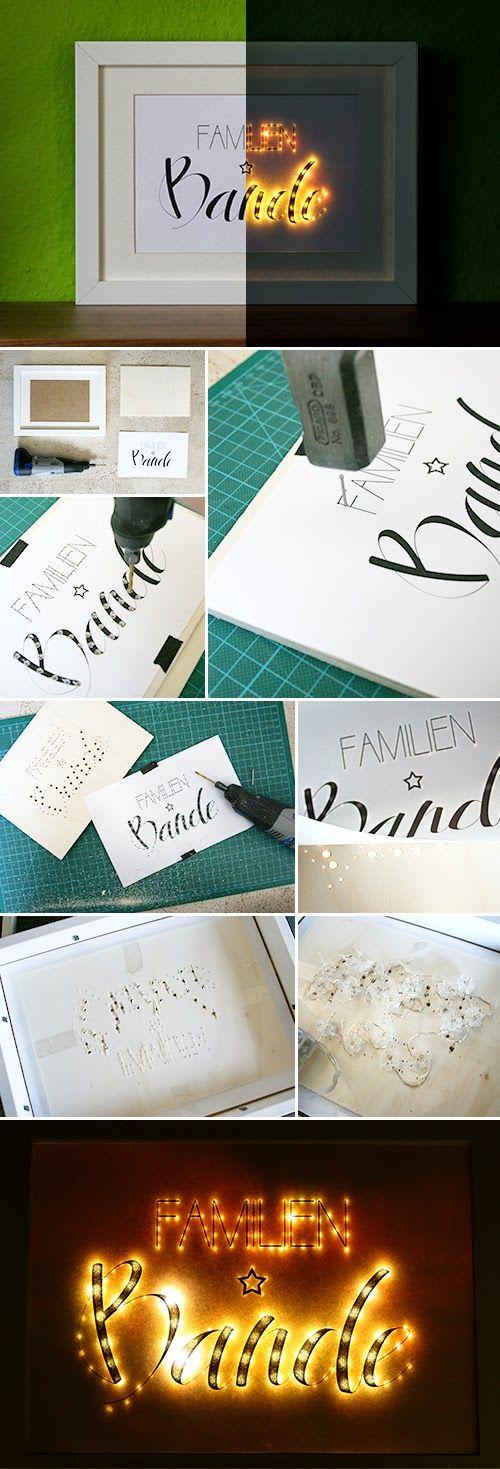 Leuchtende Schrift | Gingered Things - Der DIY Blog
