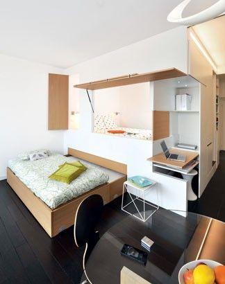 agencement petit espace comment optimiser un 2 pi ces espaces minuscules espace et pi ces. Black Bedroom Furniture Sets. Home Design Ideas