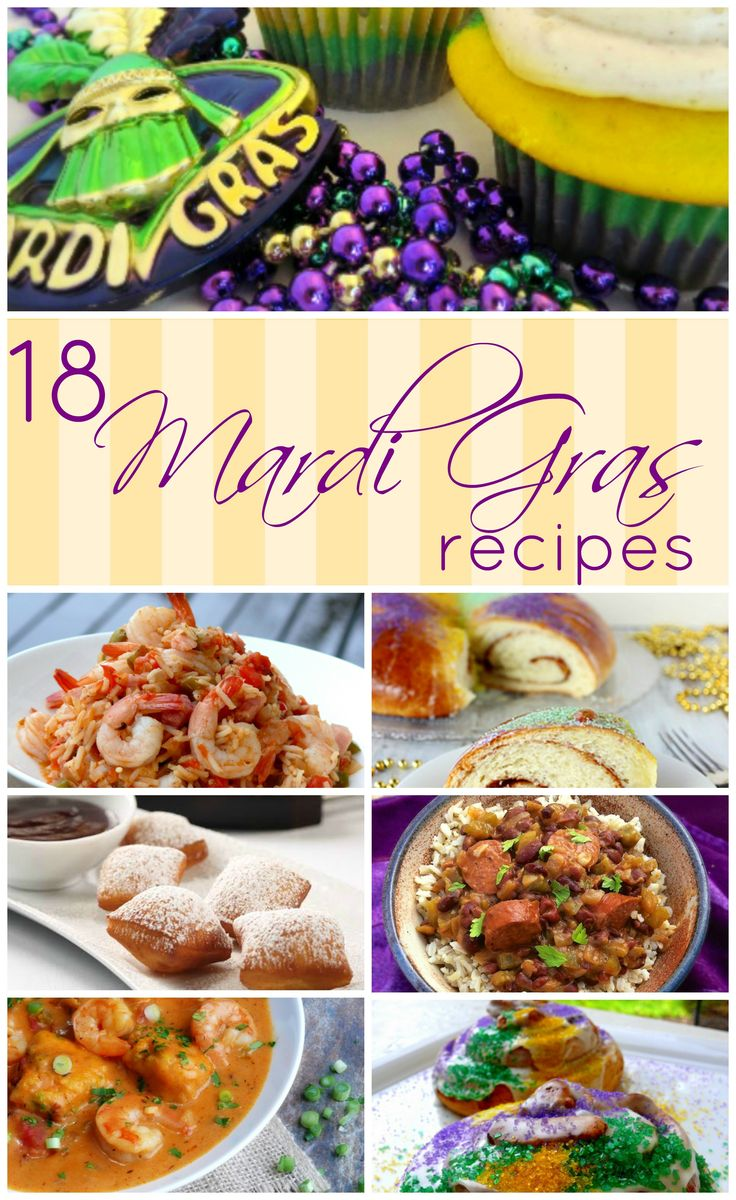 Get ready for Mardi Gras with this great collection of Mardi Gras food!