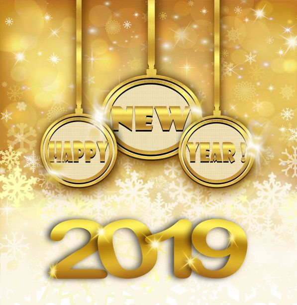 Gold 3d New Year 2019 Wallpaper Saved by SRIRAM  Happy new year