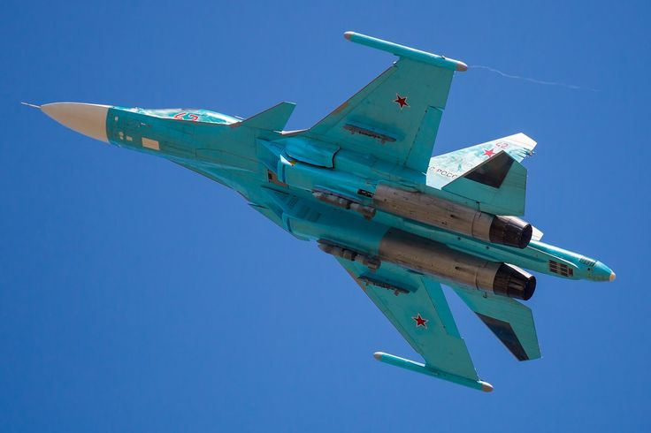 Sukhoi Su-34 with Betab-500 concrete-piercing bombs