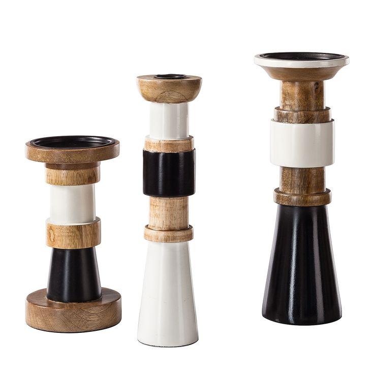 Kerzenhalter Cervon (3-teilig) - Mango massiv, Eva Padberg Collection Jetzt bestellen unter: https://moebel.ladendirekt.de/dekoration/kerzen-und-kerzenstaender/kerzenstaender/?uid=5e1fe0d5-ee0f-5374-88de-898ec1a10b04&utm_source=pinterest&utm_medium=pin&utm_campaign=boards #kerzen #accessoires #kerzenstaender #windlichter #kerzenständer #dekoration
