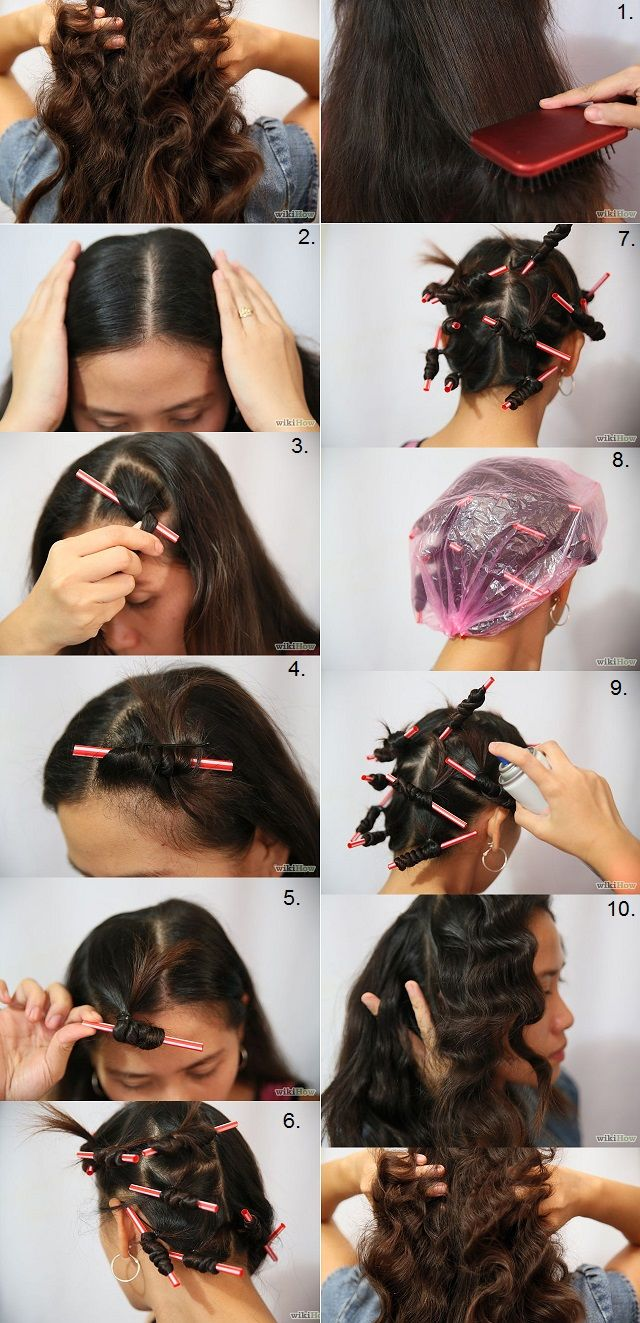 Curl Hair With Drinking Straws