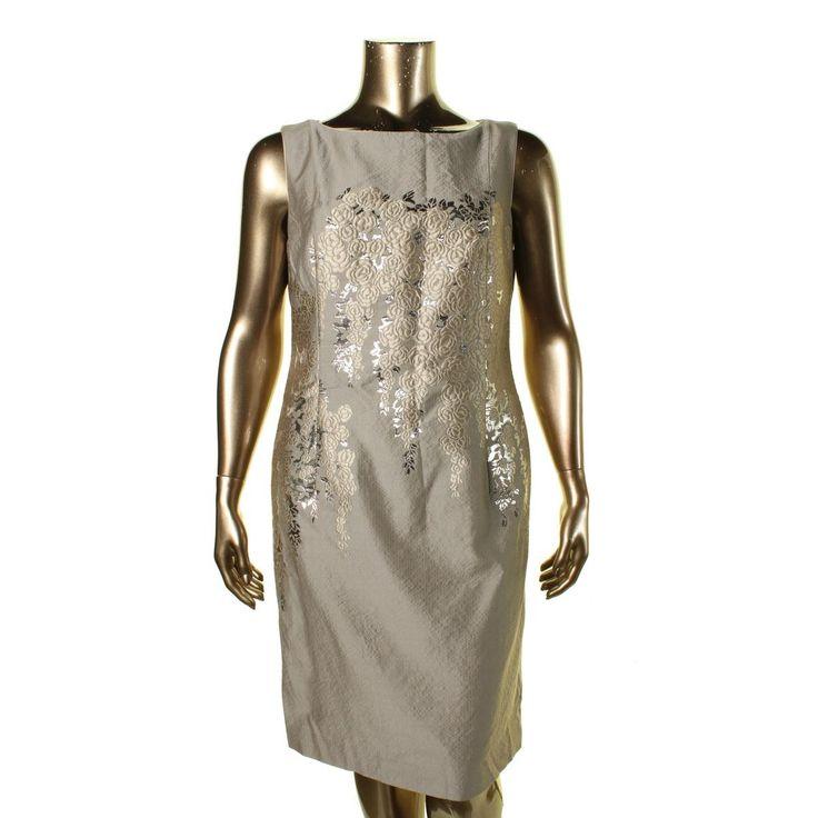 Lafayette 148 Womens Wool/Silk Blend Metallic Cocktail Dress
