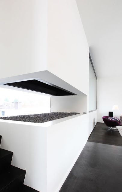 Sleek Fireplace — Egide Meertens Architects