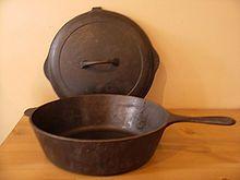 Cast-iron cookware - Wikipedia, the free encyclopedia