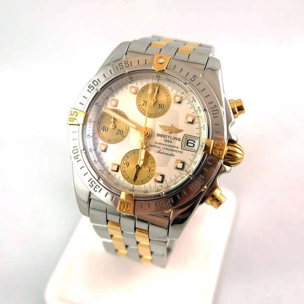 $4,995 - Men's Breitling 1884 Automatic Chronograph Two-Tone Wristwatch.
