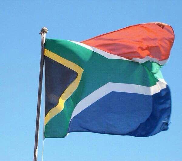 Republick Südafrika Flagge