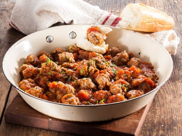 Short-cut mini tomato meatballs • This is one of those easy comfort foods to make after a long day.