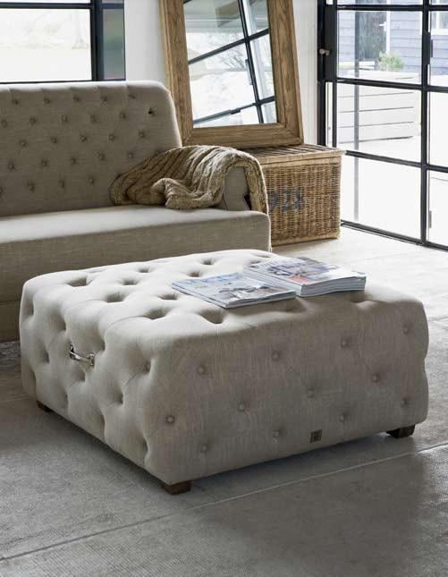 Riviera Maison, flax footstool