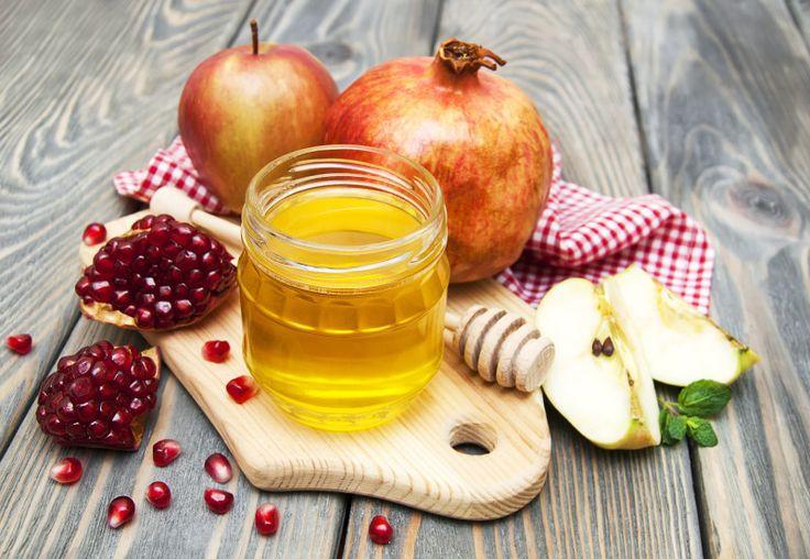 Apples-honey-and-pomegranites-for-Rosh-Hashana. More details at http://mitzuyankoshercatering.com/information/rosh-hashanah-by-kosher-catering-toronto