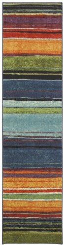 Mohawk Home New Wave Rainbow Printed Rug 2'x8' Multi