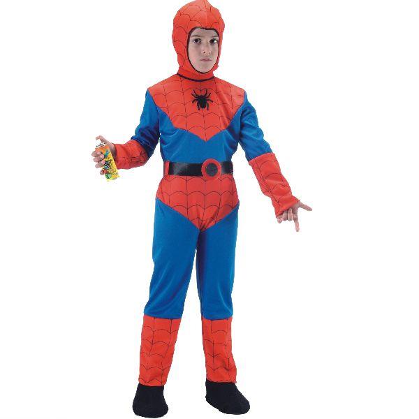 Costume Spiderman per bambino Tg.6-7 anni. Abito completo e stelle filanti spray incluse. Disponibile da C&C Creations Store per carnevale e feste a tema Uomo ragno.